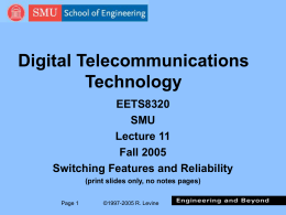 Digital Switching Overview - Lyle School of Engineering