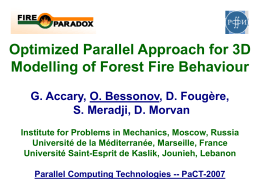 WP 2.2 - 3D-modelling: Parallelization of FIRESTAR 3D code