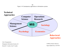T1 Figure 1-4 Contemporary approaches to information …