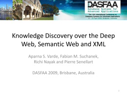 Knowledge Discovery over the Deep Web, Semantic …