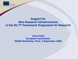 Building Europe Knowledge: Towards the Seventh …