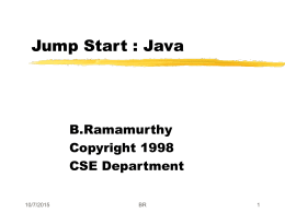 Jump Start : Java - University at Buffalo
