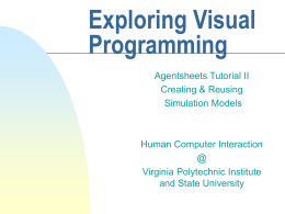 Exploring Visual Programming
