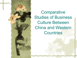 Comparative Studies of Business Culture Between China …