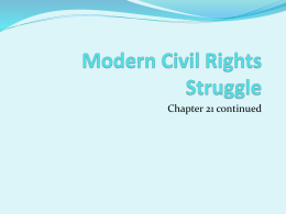 Modern Civil Rights Struggle - Lower Dauphin School District