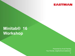 Minitab 16 Workshop