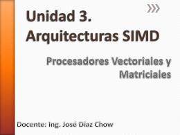 Unidad 3. Procesmiento SIMD