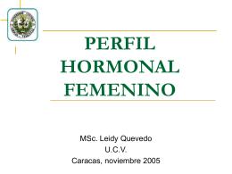 PERFIL HORMONAL FEMENINO - Saber UCV: P??gina de …