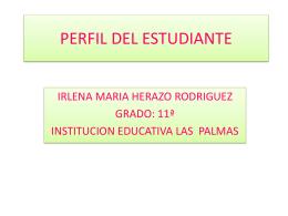PERFIL DEL ESTUDIANTE - Eduteka