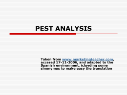 PEST ANALISYS - Helwan University