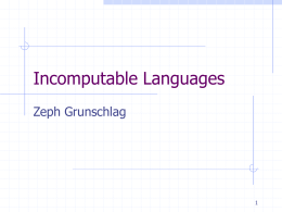 Incomputable Languages