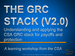 THE GRC STACK (V2.0) Understanding and applying the …
