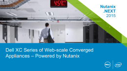 Nutanix overview for Dell sales
