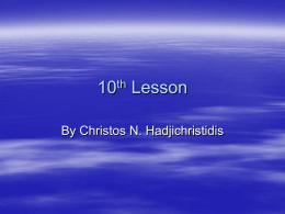 5th Lesson