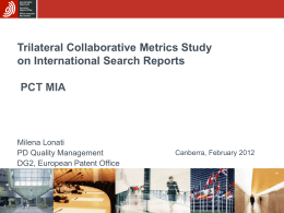 Trilateral Collaborative Metrics Project Trilateral