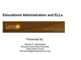 Educational Leadership with an ELL Focus
