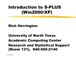 Introduction to S-PLUS version 4.5 (WIN95/NT)