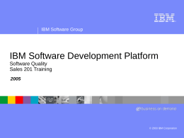 IBM Software Group Presentation Template