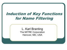 Induction of Search Keys for Name Filtering