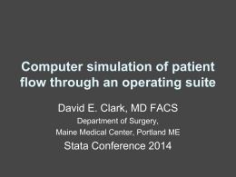 Computer simulation of patient flow through an …