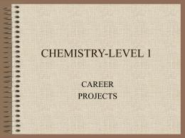 CHEMISTRY-LEVEL 1
