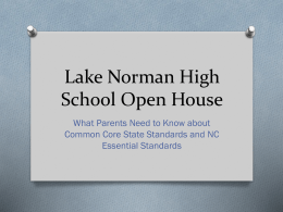 Lake Norman High School Open House - Iredell