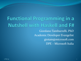 Functional Programming in a Nutshell with Haskell and F#