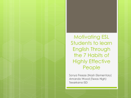Motivating ESL Students to learn English Through …