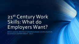 21st Century Work Skills: What do Employers Want?