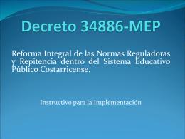 Decreto 34886-MEP - Programa UNA Virtual