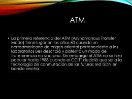 SISTEMA DE MULTIPLEXACION ATM