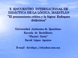 X ENCUENTRO INTERNACIONAL DEL TALLER DE …
