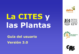 CITES & Plants A Users Guide Version 3.0