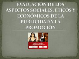 EVALUACION DE LOS ASPECTOS SOCIALES, ETICOS Y …