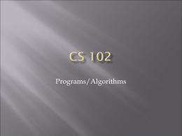 CS 102
