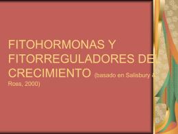 FITOHORMONAS Y FITORREGULADORES DEL CRECIMIENTO