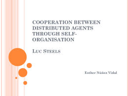 COOPERATION BETWEEN DISTRIBUTED AGENTS …