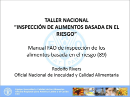 FAO Food Inspection Manual
