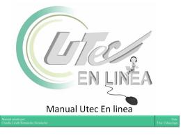 Manual Utec En linea