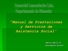 Manual de Prestaciones y Servicios de Asistencia Social