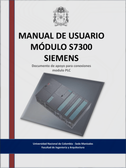 MANUAL DE USUARIO MODULO S7300 SIEMENS …