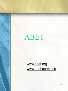 The Learning Factory: Implementing ABET 2000