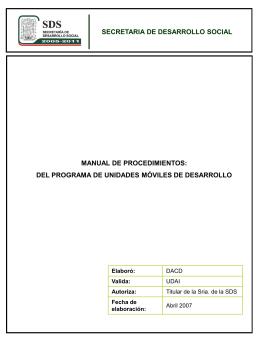 formatos de procedimeientos - IPRO: Iniciativa para el