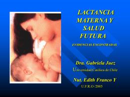 LACTANCIA MATERNA Y ENFERMEDADES CRONICAS