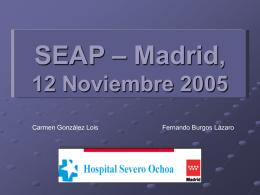 SEAP – Madrid, 12 Noviembre 2005