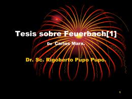 Tesis sobre Feuerbach.
