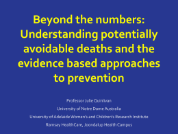 Beyond the numbers: Understanding potentially avoidable