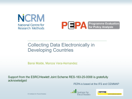 Collecting Data Electronically in Developing Countries