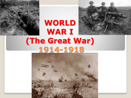 WORLD WAR I (The Great War) - Fairfield