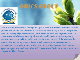 SHAZIA JAMSHED - OMICS Publishing Group
